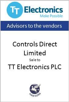 Controls Direct Limited sale to TT Electonics PLC