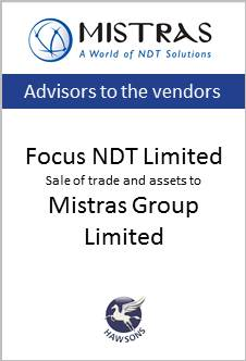 Deal: Focus NDT Limited sale to Mistras Group Limited - Hawsons advises