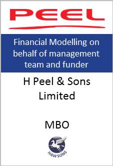 MBO Hawsons advises H Peel & Sons limited