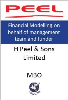 MBO Hawsons advises H Peel & Sons limited