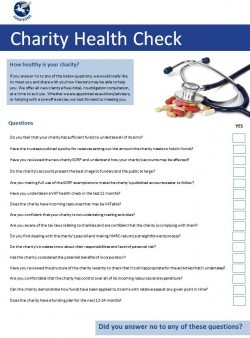 Charity health check questions