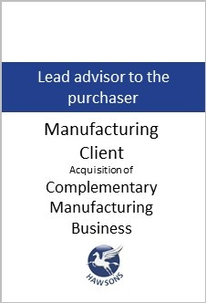 Deal: manufacturing client