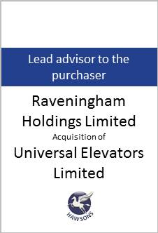 Deal: Raveningham Holdings Limited acquires Universal Elevators Limited - Hawsons advises