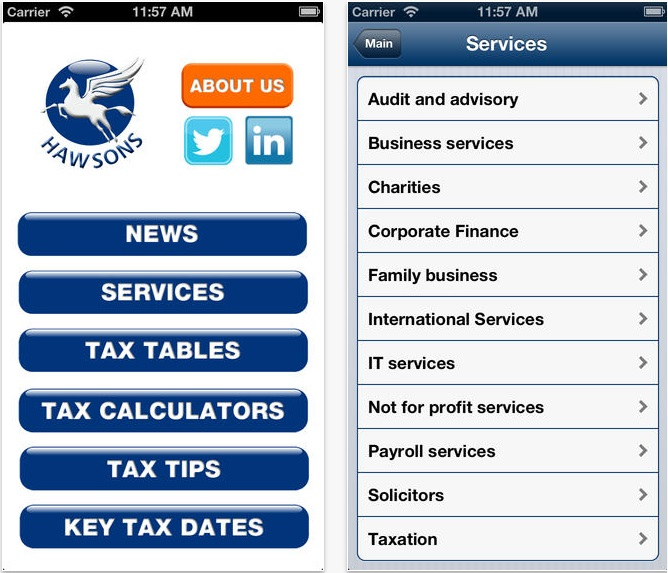 Tax app Hawsons Chartered Accountants