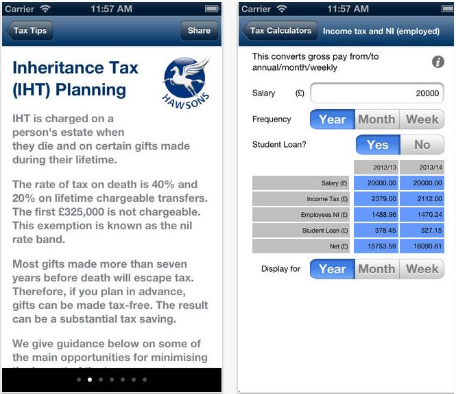 Tax app Hawsons Chartered Accountants