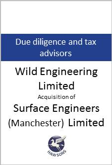Deal: Wild Engineering Limited acquisiton of Surface Engineers (Manchester) Limited - Hawsons advises