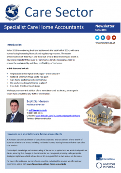 Care home Spring 2015 sector newsletter
