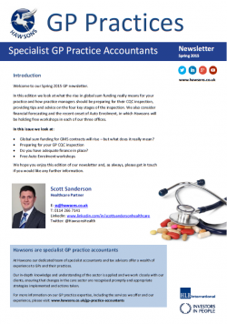GP Spring 2015 sector newsletter