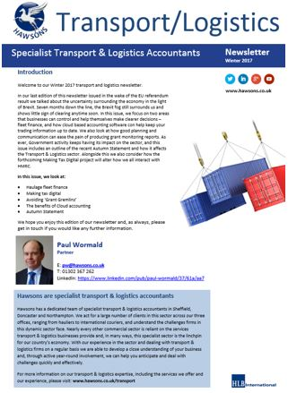 Transport and Logistics newsletter Winter 2017