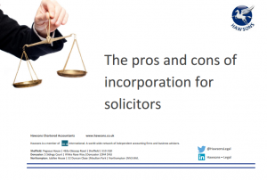 The pros and cons of incorporation for solicitors