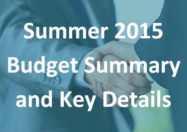 Summer 2015 Budget