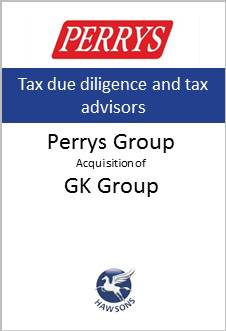 Deal: Perrys acquires GK Group - Hawsons advises