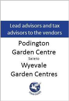 Deal: Podington sale to Wyevale Garden Centres - Hawsons advises