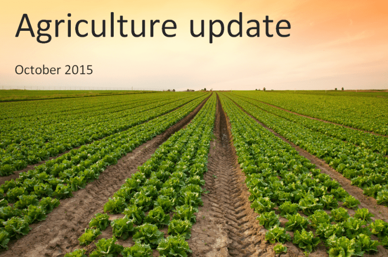 Agriculture update for UK farmers – October 2015