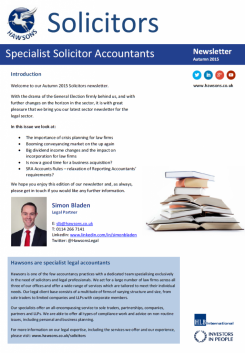 Solicitor Autumn 2015 sector newsletter