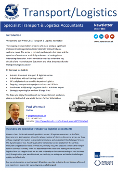 Transport & Logistics Winter 2015 sector newsletter