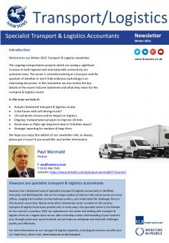 T&L Winter 2015 sector newsletter