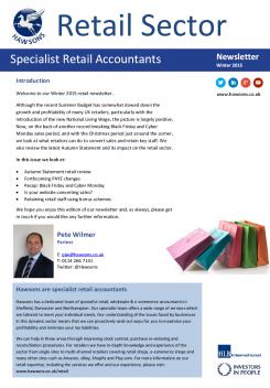 Retail Winter 2015 sector newsletter
