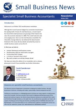 SME Winter 2015 sector newsletter