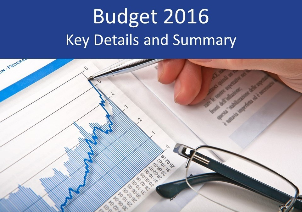 Budget 2016 summary and key details