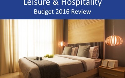 Leisure & hospitality 2016 Budget review and analysis