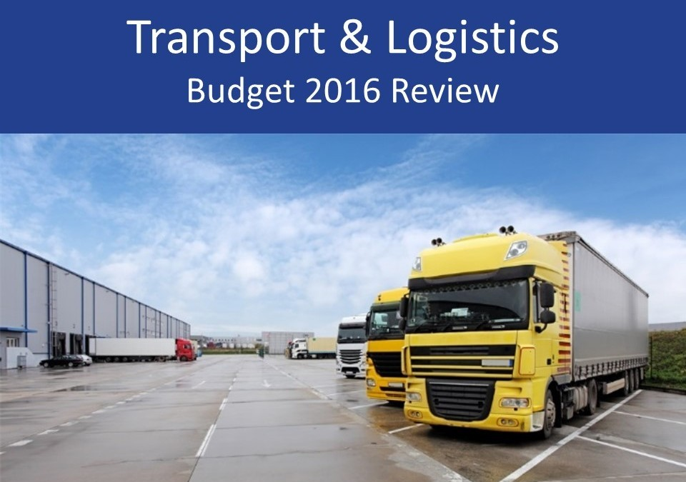 Transport and logistics 2016 Budget review and analysis