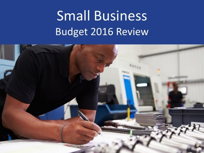 Small business 2016 Budget review