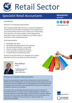 Retail Spring 2016 sector newsletter