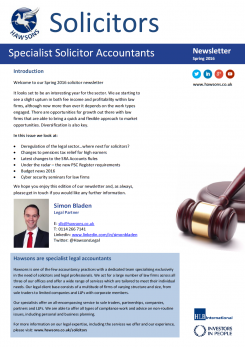 Solicitor Spring 2016 sector newsletter