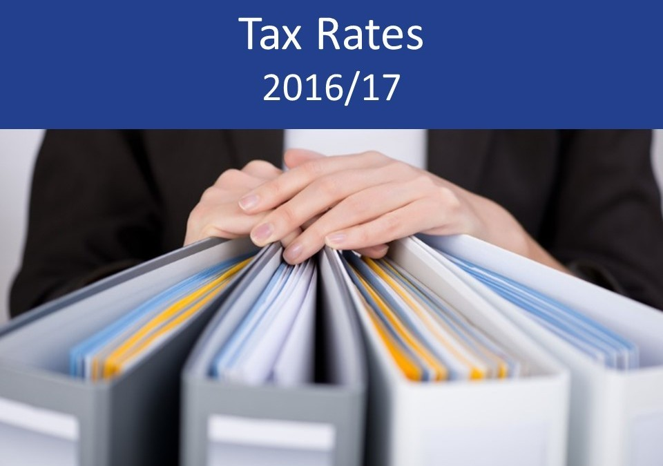 Tax Rates and allowances 2016/17 – summary and details