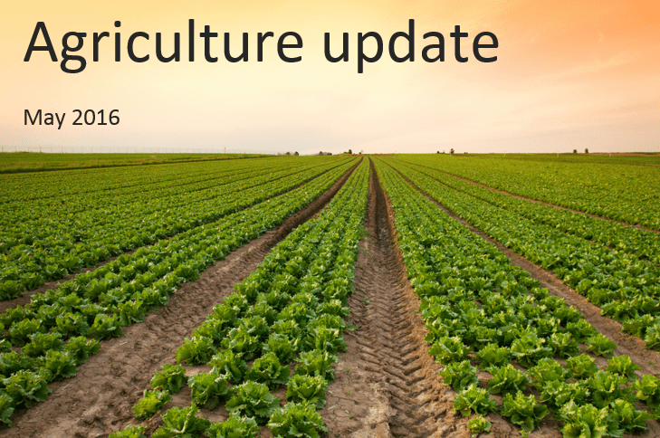 Agriculture update for UK farmers – May 2016