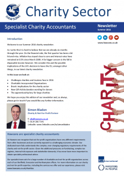 Charity Summer 2016 sector newsletter