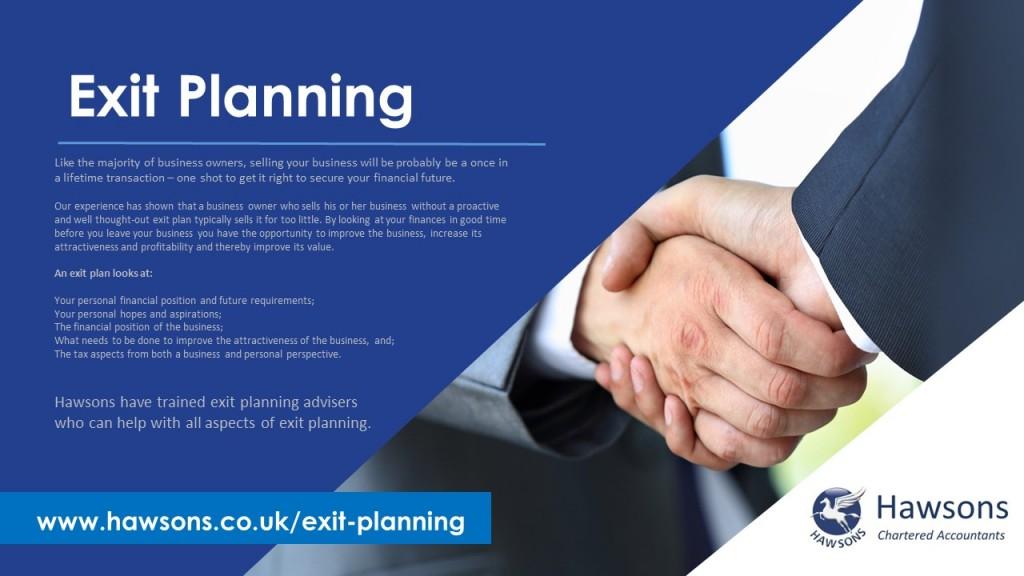 Exit Planning Service Brochure - Hawsons