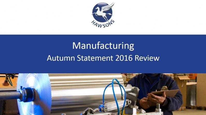 manufacturing autumn statement