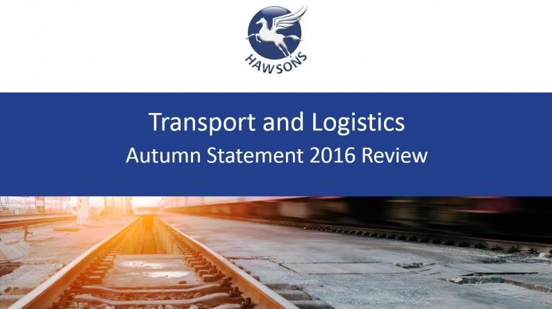 transport and logistics autumn statement 2016