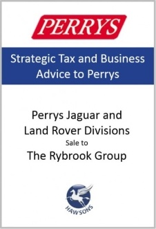 Perrys Jaguar and Land Rover Divisions sale to The Rybrook Group