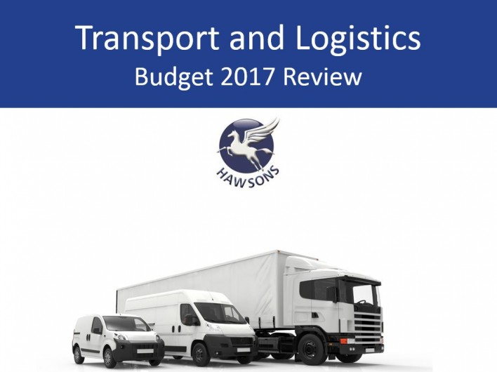 transport and logistics 2017 budget