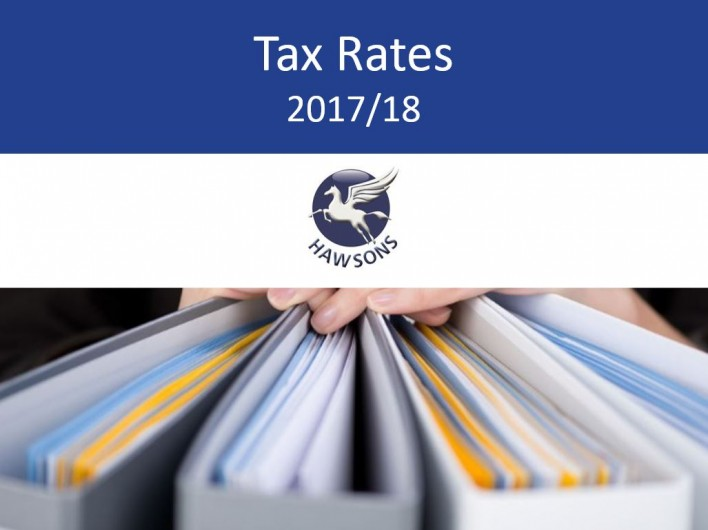 tax rates and allowances 2017/18