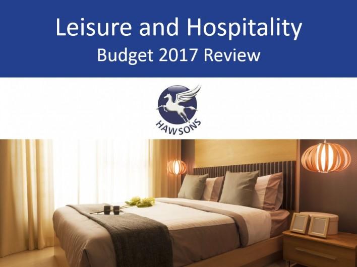 leisure & hospitality 2017 budget