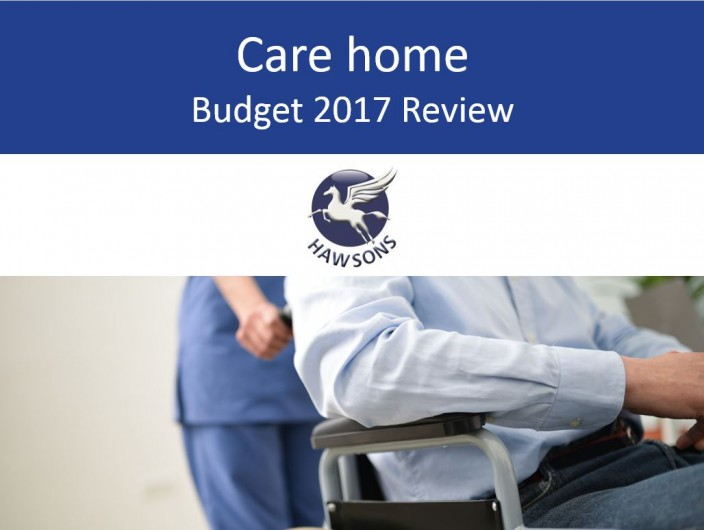 Care home 2017 Budget review and analysis