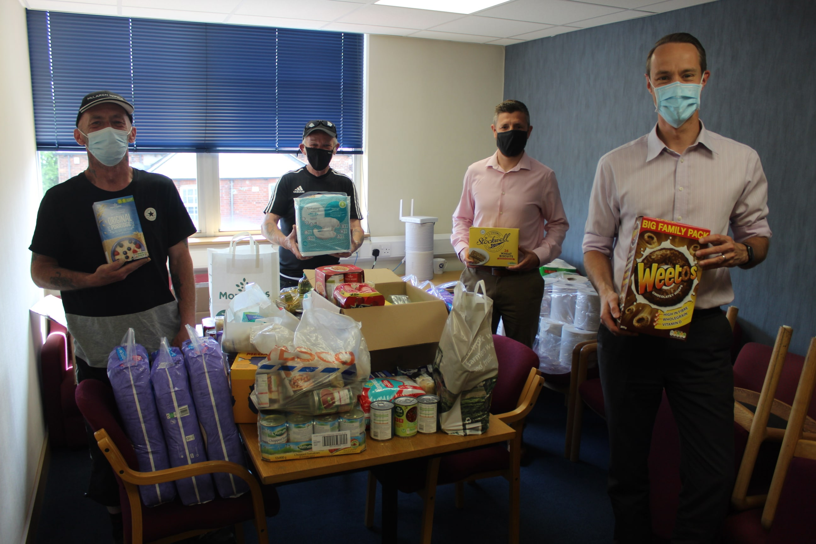 Sheffield office food donation