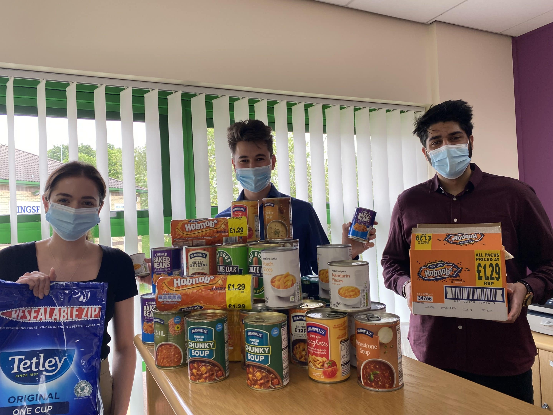 Northampton office food donations